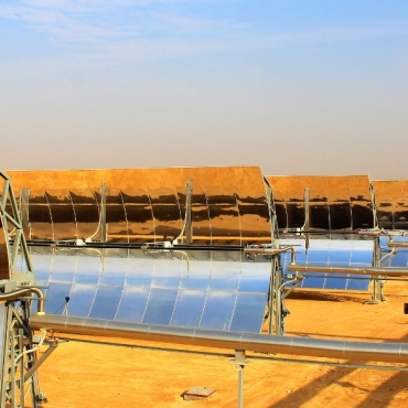 Inauguration ceremony of the MATS concentrating solar power plant project in Egypt